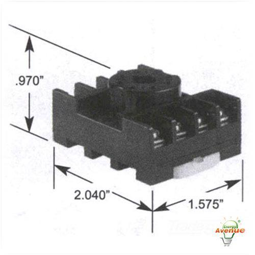 Selecta Switch Sr67083a Relay Socket For 67s2 Series Track  Surface Mounting 8